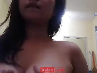Girl Play Boob video: Malay girl playing with her boobs