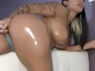 Big booty oiled ass...