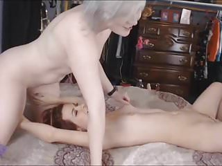 Licking a wet pussy...