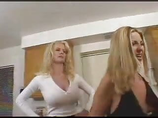 mom spanks not her daughters and takes their in the kitchen