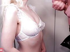 Daddy cums on my first bra