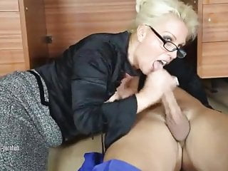 Trainer blows employee penis