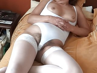 MATURE WIFE EXHIBITING HAIRY PUSSY, TITS, ASS, EROTICISM