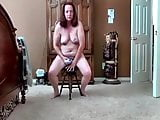 Slut Ann fucks a chair.