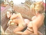 Lesbians Big Boobs twins Play with sex Toy