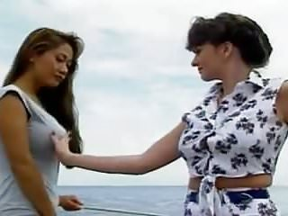 Lesbian pleasures on sailing yacht...