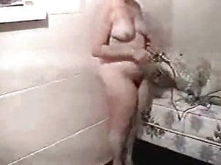 Masturbates so hard she can barely stand...