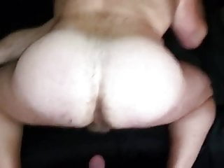 Hot beefy bear taking cock up the ass...