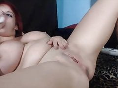 Nasty curvy squirter Trinity craving cum in a firm ass