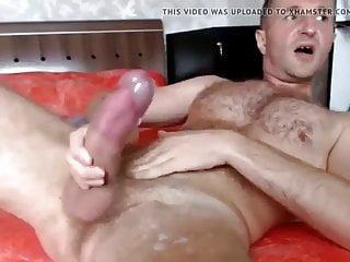 Hunk beautiful man masturbing his...