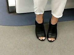 Candid feet --- Singaporean woman