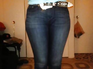 Ass in tight levis denim jeans...