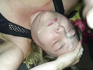 Cum Bitch BBW Will get Large Cum Facial Explosion By A big black cock