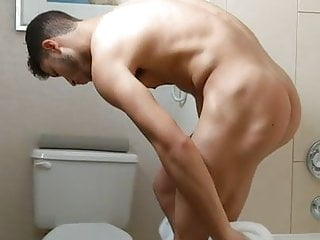 Sexy guy shows himself after shower...