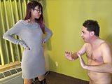 Mistress Asia Perez kicks brutally in the balls Andrea Dipre