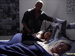 Mature dick wakes her up and she is fine with it