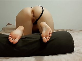 Ass and feet, cum on her big soles