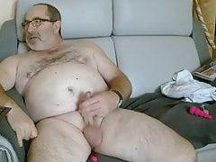 Chubby Bear Masturbating.