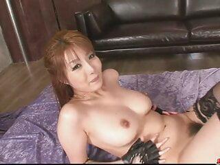 Playful and glamorous cutie Yuna Hirose shaft humping
