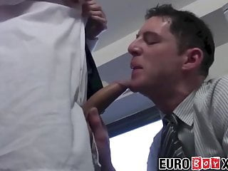 Horny coworkers suck dick and anally fuck in...