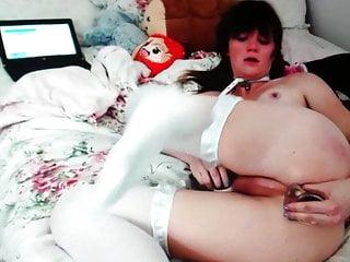 Hot asshole fucks by cute her dildo femboy
