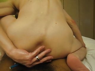سکس گی Sexy white passive slutty whore rides black fat cock black  big cock  bareback  anal  amateur