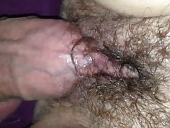 A nice fuck in my wife's hairy wet pussy