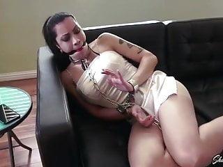 Cassandra Cain Shackled in Metal Bondage