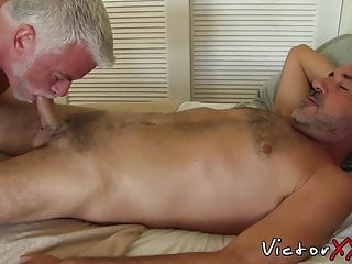 Daddy cock sucked by before fucking him...