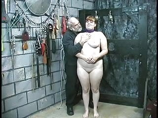 Young brunette thick slave girl is stripped humiliation...