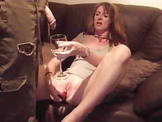 Horny pissdrinking slut masturbate and cum...