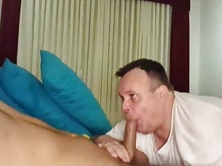 Arab man cums in his mouth swallow it...