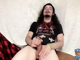 Rocker guy max harley loves to jack his...