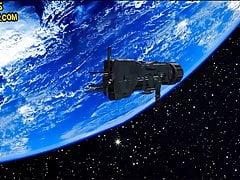 Maya handjob in space
