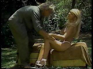 Smoking tits banged outdoors...