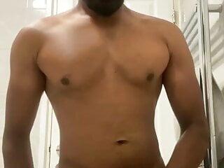 Twink Ali (19) miliking his cock